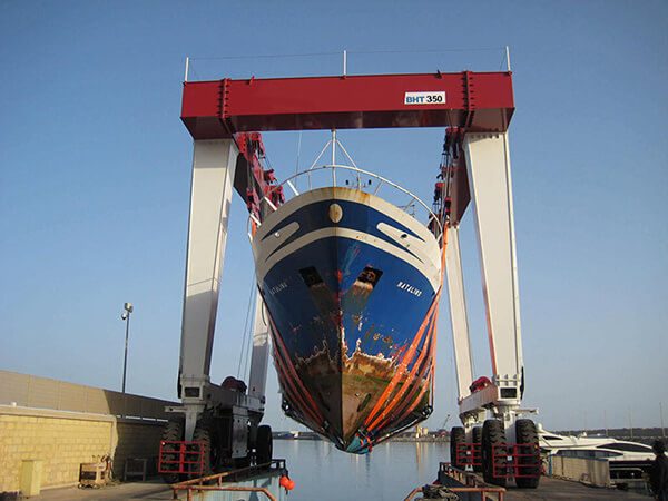 350 Ton Travel Lift for Boat